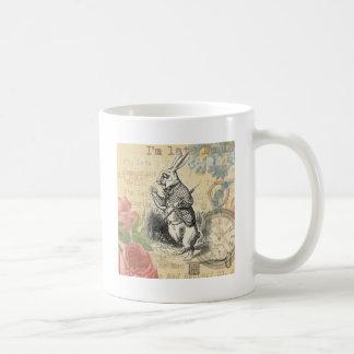 White Rabbit from Alice in Wonderland Coffee Mugs