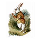 White Rabbit from Alice in Wonderland Postcard