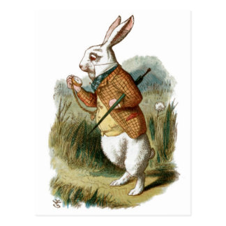 White Rabbit from Alice in Wonderland Postcard