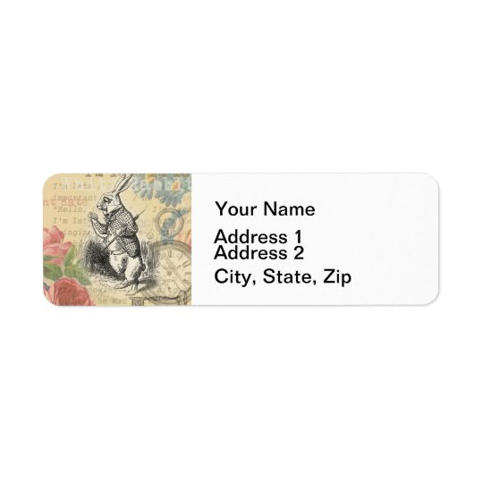 White Rabbit from Alice in Wonderland Return Address Label
