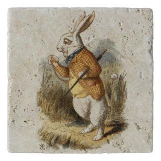 White Rabbit from Alice In Wonderland Vintage Art Trivet