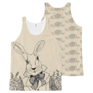 White Rabbit from Alice's Adventures in Wonderland All-Over Print Singlet