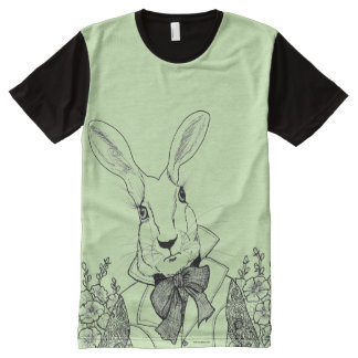 White Rabbit from Alice's Adventures in Wonderland All-Over Print T-Shirt