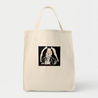 White rabbit grocery tote bag
