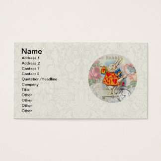 White Rabbit Hearts Business Card