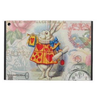 White Rabbit Hearts iPad Air Covers