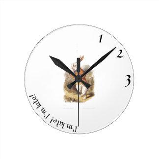 White Rabbit I'm Late! Clock