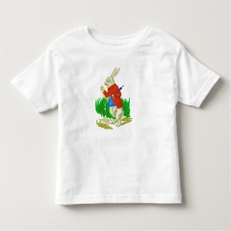 White Rabbit In suit  Toddler Fine Jersey T-Shirt