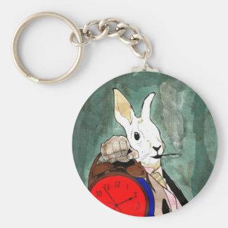 white rabbit key chains