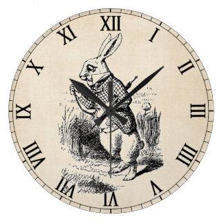 White Rabbit Large Round Clock