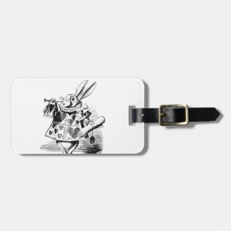 White Rabbit Luggage Tag