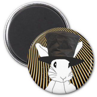 White Rabbit Magnet