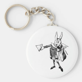 White Rabbit Messenger Inked Black Key Ring