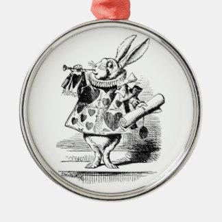 White Rabbit Metal Ornament