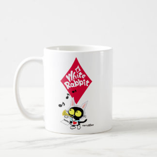 White rabbit of cat of wonderland coffee mug