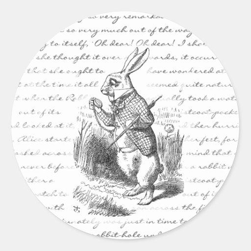 White Rabbit - Oh Dear! Oh Dear! I shall be Late! Sticker