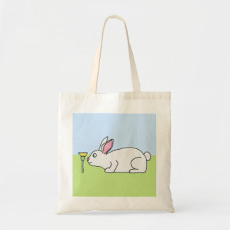 White Rabbit. On a Lawn. Tote Bag
