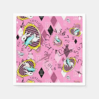 White Rabbit paper cocktail napkins, Wonderland Paper Napkins