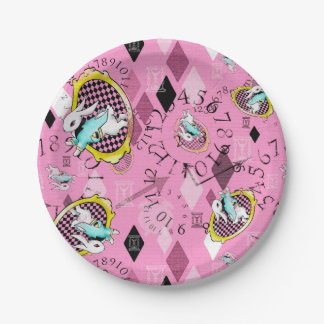 white rabbit paper plates wonderland tea party