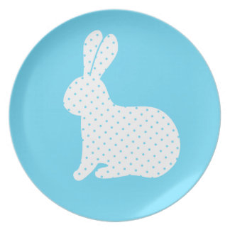 White Rabbit Party Plate