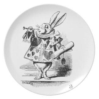 White Rabbit Party Plates