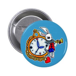 White Rabbit pocket watch Pin