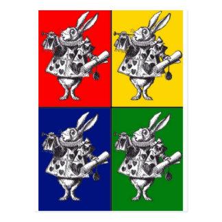 White Rabbit Pop Art Postcard