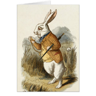 White Rabbit Print from Alice in Wonderland Card