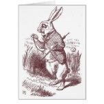 White Rabbit Shower Invitation Greeting Cards