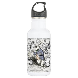 White Rabbit Time Alice in Wonderland 532 Ml Water Bottle