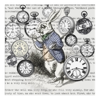 White Rabbit Time Alice in Wonderland Acrylic Wall Art