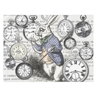 White Rabbit Time Alice in Wonderland Tablecloth