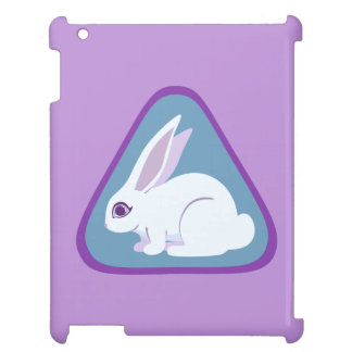 White Rabbit With Long Ears Triangle Art Case For The iPad 2 3 4