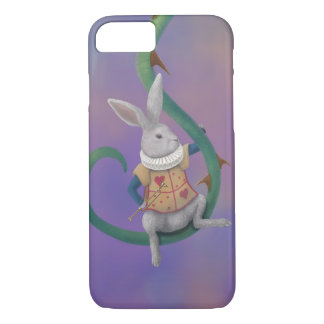 White Rabbit with Rose Thorns iPhone 7 Case