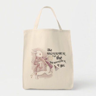 White Rabbit, Wonderland Tote Bag