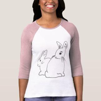 White Rabbits Ladies Raglan T-Shirt