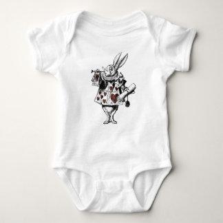White Rabbits of Hearts - Alice in Wonderland Baby Bodysuit
