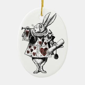 White Rabbits of Hearts - Alice in Wonderland Ornaments