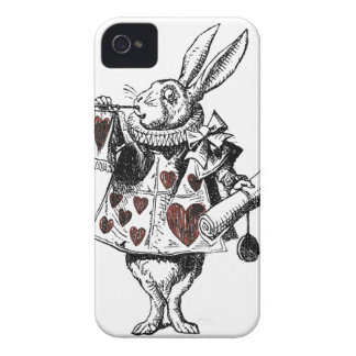 White Rabbits of Hearts - Alice in Wonderland iPhone 4 Case-Mate Cases