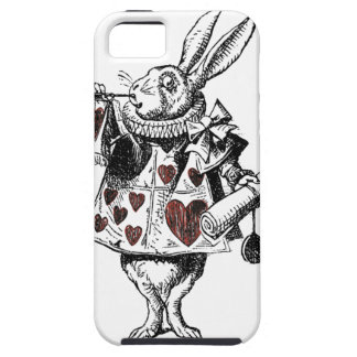 White Rabbits of Hearts - Alice in Wonderland iPhone 5 Covers