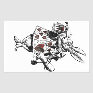 White Rabbits of Hearts - Alice in Wonderland Rectangular Sticker