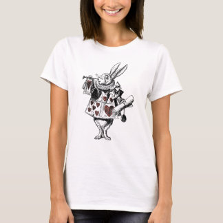 White Rabbits of Hearts - Alice in Wonderland T-Shirt