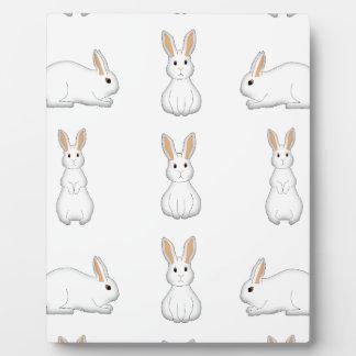 white rabbits plaque