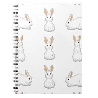 white rabbits spiral notebook