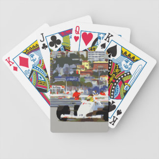 WHITE RACE CAR - City Circuit Bicycle Playing Cards