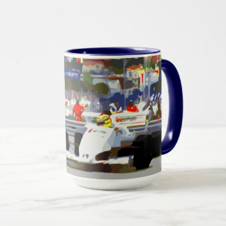 WHITE RACE CAR - City Circuit Mug