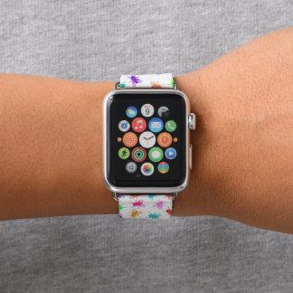 White Rainbow Flies Apple Watch Band