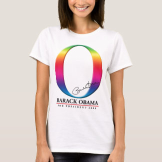 White Rainbow O - Barack Obama for President T-Shirt