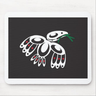 White Raven Mouse Pad
