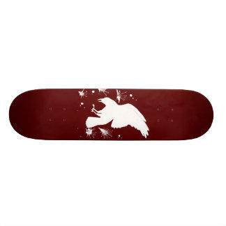 White raven skateboard deck